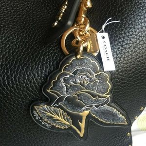 Coach Chelsea F75521 Floral Rose Tattoo Bag Charm
